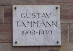 Château de la Haichois - Deutsch: Göttinger Gedenktafel für Gustav Tammann, Chemiker (Bürgerstraße 50)