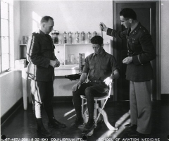 Maison du Peuple -  The Barany chair is used in motion sickness therapy and in aerospace physiology training, to demonstrate to pilots the effects of spatial disorientation.  The chair was invented by Robert Bárány to do his research into the role of the inner ear in the human sense of balance, for which he received the 1914 Nobel Prize in Physiology or Medicine.