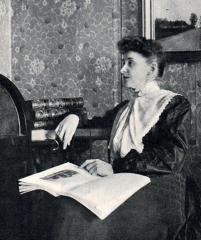 Villa Greystones - English: Portrait of the female Swedish writer Mathilda Malling
