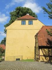 Villa Greystones - English: The gable of Rektorboligen in Roskilde, Denmark