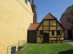 Villa Greystones - English: The western gable of the southern side wing of Rektorboligen in Roskilde, Denmark