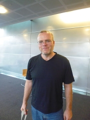 Château - English: Rasmus Lerdorf, creator of PHP, at the New Zealand PHP Conference 2014.