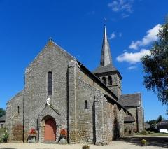 Église Notre-Dame - Français:   Église Notre-Dame d\'Hédé (35). Façade occidentlae et flanc sud.