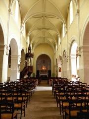 Église Notre-Dame - Français:   Église Notre-Dame d\'Hédé (35). Nef principale.