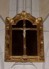 Église Notre-Dame - Français:   Église Notre-Dame d\'Hédé (35). Croix encadrée.