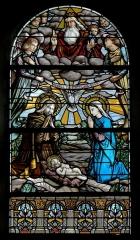 Église Notre-Dame - Français:   Église Notre-Dame d\'Hédé (35). Vitrail. La Nativité.