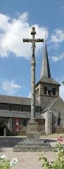 Église Notre-Dame - Français:   Hédé, Ille-et-Vilaine, Bretagne, France  Calvaire et église Notre-Dame.