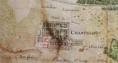 Bibliothèque municipale - English: Detail from 'Plan géométral du château [de Chanteloup] et de ses environs', 1761. Tours, Bibliothèque municipale.