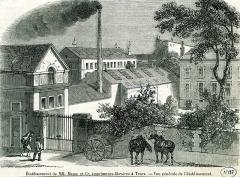 Imprimerie Mame - Français:   Établissement de MM. Mame et Cie, imprimeurs-libraires à Tours. - Vue générale de l\'établissement