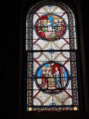 Eglise paroissiale Notre-Dame - Français:   Montbazon (Indre-et-Loire) église, vitrail 02