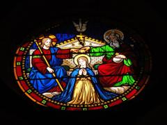 Eglise paroissiale Notre-Dame - Français:   Montbazon (Indre-et-Loire) église, vitrail rond