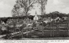 Eglise paroissiale Saint-Laurent - Français:   Vue du bourg de Boussay (37) et de l\'église St Laurent