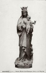 Eglise paroissiale Saint-Laurent - Français:   Statue de Notre-Dame des Champs de l\'église de Boussay (37)