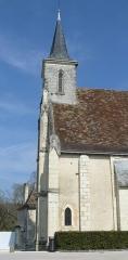 Eglise paroissiale Saint-Laurent - Français:   Vue latérale de l\'église St Laurent de Boussay - Travée ajoutée au 19ème siècle par l\'architecte Créchet.