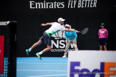 Château d'Hodebert -  Sydney, Australia - 10 January 2019: Andreas Seppi during his quarterfinal win over the no. 1 seed Stefanos Tsitsipas at the Sydney International tennis  on Ken Rosewall Arena, Sydney Olympic Park. (Photo by Rob Keating/robiciatennis.com)