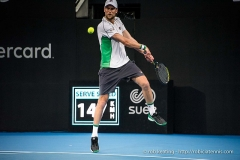 Château d'Hodebert -  Sydney, Australia - 11 January 2019:  Andreas Seppi plays a backhand during the Sydney International singles semifinal match against Diego Schwartzman on Ken Rosewall Arena at Sydney Olympic Park. (Photo by Rob Keating/robiciatennis.com)