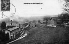 Forges de Bonpertuis - Italiano: Les forges de Bonpertuis sont un monument répertorié à l'inventaire des monuments historiques. Carte postale ancienne de Apprieu, Isère, France.