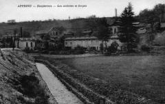 Forges de Bonpertuis - Italiano: Les forges de Bonpertuis sont un monument répertorié à l'inventaire des monuments historiques- Carte postale ancienne de Apprieu, Isère, France.