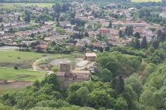 Maison forte des Allinges -  Vue depuis le chateau de Fallavier / Saint-Quentin-Fallavier, Isère, France