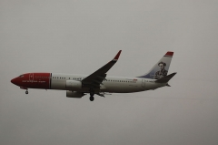 Château de la Sauge -  Boeing 737/8 of Norwegian Air Shuttle with Gunnar Sonsteby