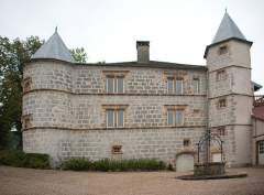 Château - Français:   Château de Sirod (Jura, France).