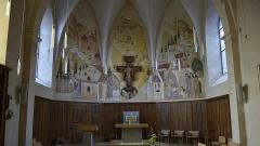 Monastère des Clarisses - Nederlands: Sint-Claraklooster te Poligny, (Jura), Frankrijk - het koor van de kapel