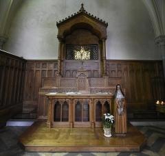 Monastère des Clarisses - Nederlands: Sint-Claraklooster te Poligny, (Jura), Frankrijk - kapel met het reliekschrijn van de heilige Coleta