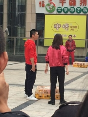 Oratoire Saint-Roch et ancien cimetière - English: Ada Liu and Peng Yu were filming the comedy television series A First Forward in Changsha, Hunan, China.
