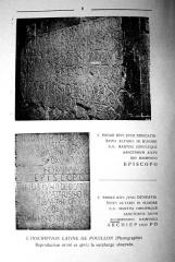 Eglise Saint-Martin -  Etude d'Henry Delfour sur l'incription latine de l'église Saint-Martin de Pouillon