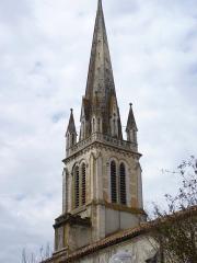 Eglise Saint-Martin -  Le clocher de l'église Saint-Martin de Pouillon
