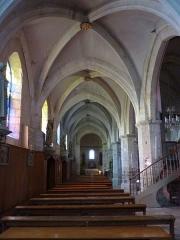 Eglise Saint-Martin -  Le collatéral gauche de l'église Saint-Martin de Pouillon