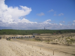 Phare de Contis - English: Contis-Plage from the dunetop.