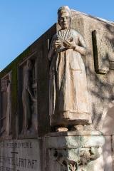 Monument Jacquard - English:  Bobbin work woman