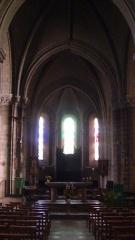 Eglise Saint-Jacques de Pirmil - English: Altar and organ of Saint-Jacques-de-Pirmil, Nantes