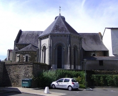 Eglise Saint-Jacques de Pirmil - English: Apse of Saint-Jacques-de-Pirmil, Nantes