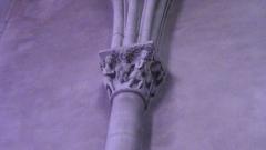 Eglise Saint-Jacques de Pirmil - English: Twelfth-century capital in Saint-Jacques-de-Pirmil, Nantes, north nave