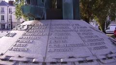 Monument aux Cinquante Otages - English: Names of the 50 Otages, detail from the Monument aux Cinquante Otages, Nantes