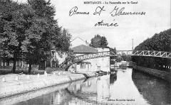 Passerelle de la Marolle -  Passerelle Victor Hugo sur le canal de Briare, Montargis, Loiret, France. Built by Gustave Eiffel in 1891