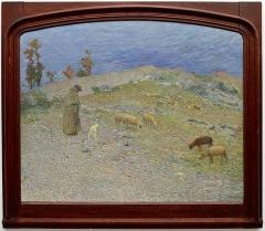 Ancien évêché concordataire, actuellement musée - Français:   Berger et ses moutons dans les causses par Henri Martin, musée de Cahors Henri-Martin 2012.4.6