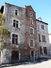 Site archéologique du dolmen des Aguals ou de la Combe de l'Ours - Cahors - Hôtel de Roaldès ou Maison de Henri IV - Façade sur le quai Champollion
