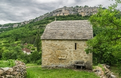 Chapelle Saint-Roch - English: Saint Roch chapel in Autoire, Lot, France