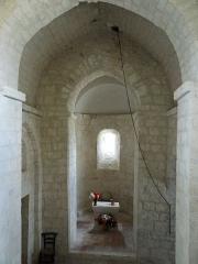 Eglise Sainte-Foy - Français:   Blaymont - Église Sainte-Foy - Nef vers le choeur