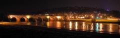 Pont-canal d'Agen sur la Garonne (également sur commune du Passage) -  Panorama du pont canal d'Agen