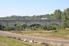 Pont-canal d'Agen sur la Garonne (également sur commune du Passage) - English: Agen canal bridge, Agen, France