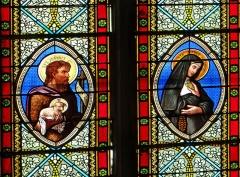 Eglise Saint-Martin - Français:   Cahuzac - Église Saint-Martin - Vitraux: saint Jean-Baptiste et sainte Jeanne de Chantal