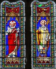Eglise Saint-Martin - Français:   Cahuzac - Église Saint-Martin - Vitraux du chevet: le Sauveur et saint Martin