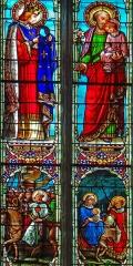 Eglise Saint-Martin - Français:   Cahuzac - Église Saint-Martin - Vitraux: saint Louis et saint Joseph