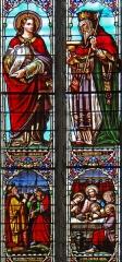 Eglise Saint-Martin - Français:   Cahuzac - Église Saint-Martin  - Vitraux: saint Jean et Melchisedech