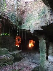Site de la Seigneurie - Français:   carrière de sarcophages de la seigneurie de Doué-la-Fontaine creusée dans le falun