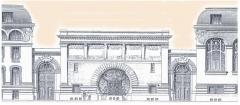 Cellier d'expédition - Nederlands: Bouwtekening van het kantoor van Mumm door Ernest Kalas (1861-1928)
